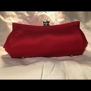 Satiny Red Clutch Purse